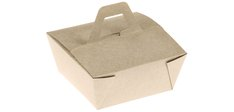 Take away Box Bambus-Karton, Naturesse mit Henkel