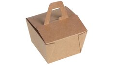 Take away Box Kraft, Naturesse mit Henkel
